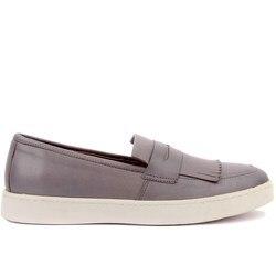Segel Lakers-Grau Leder Schritt-in Männer Casual Schuhe