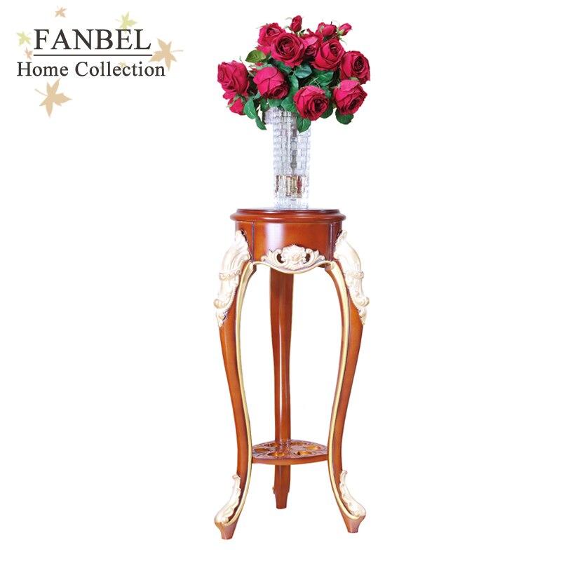 FANBEL мебель  подставка под цветы классический дизайн цвет орех с золотом