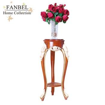 цена на FANBEL мебель  подставка под цветы классический дизайн цвет орех с золотом