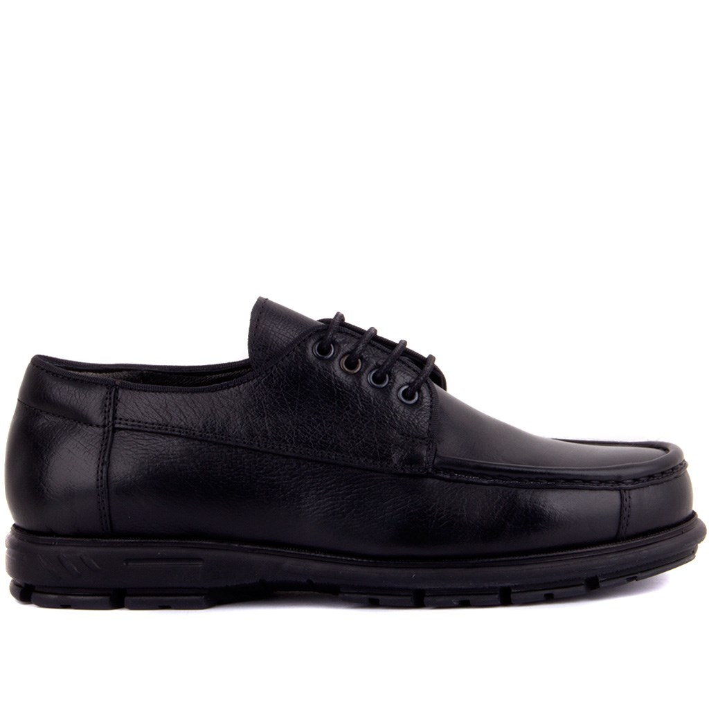 Sail-Lakers Black Leather Men Casual Shoes