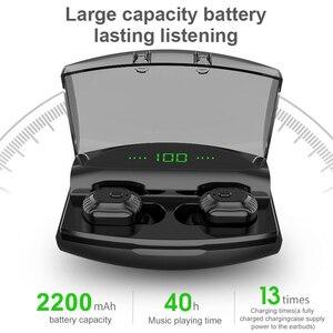 Image 3 - באוזן סוללה LED תצוגה אלחוטי Bluetooth 5.0 אוזניות עמיד למים TWS עם 1800mAh בנק כוח יכול לחייב עבור טלפון אוזניות