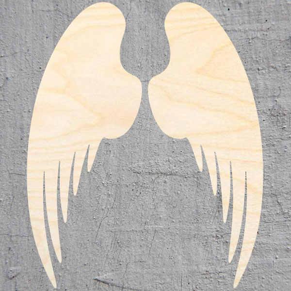 מלאך כנפי צללית לייזר לגזור עץ צורת קרפט אספקת גמור לחתוך אמנות פרויקטי מלאכת קישוט מתנת מגזרת נייר Orname