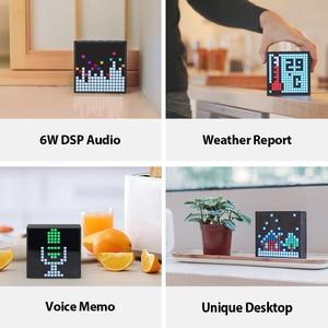 Image 4 - Divoom מוסת הזמן Evo Bluetooth נייד רמקול עם שעון מעורר לתכנות LED תצוגה עבור פיקסל אמנות יצירה ייחודי מתנה