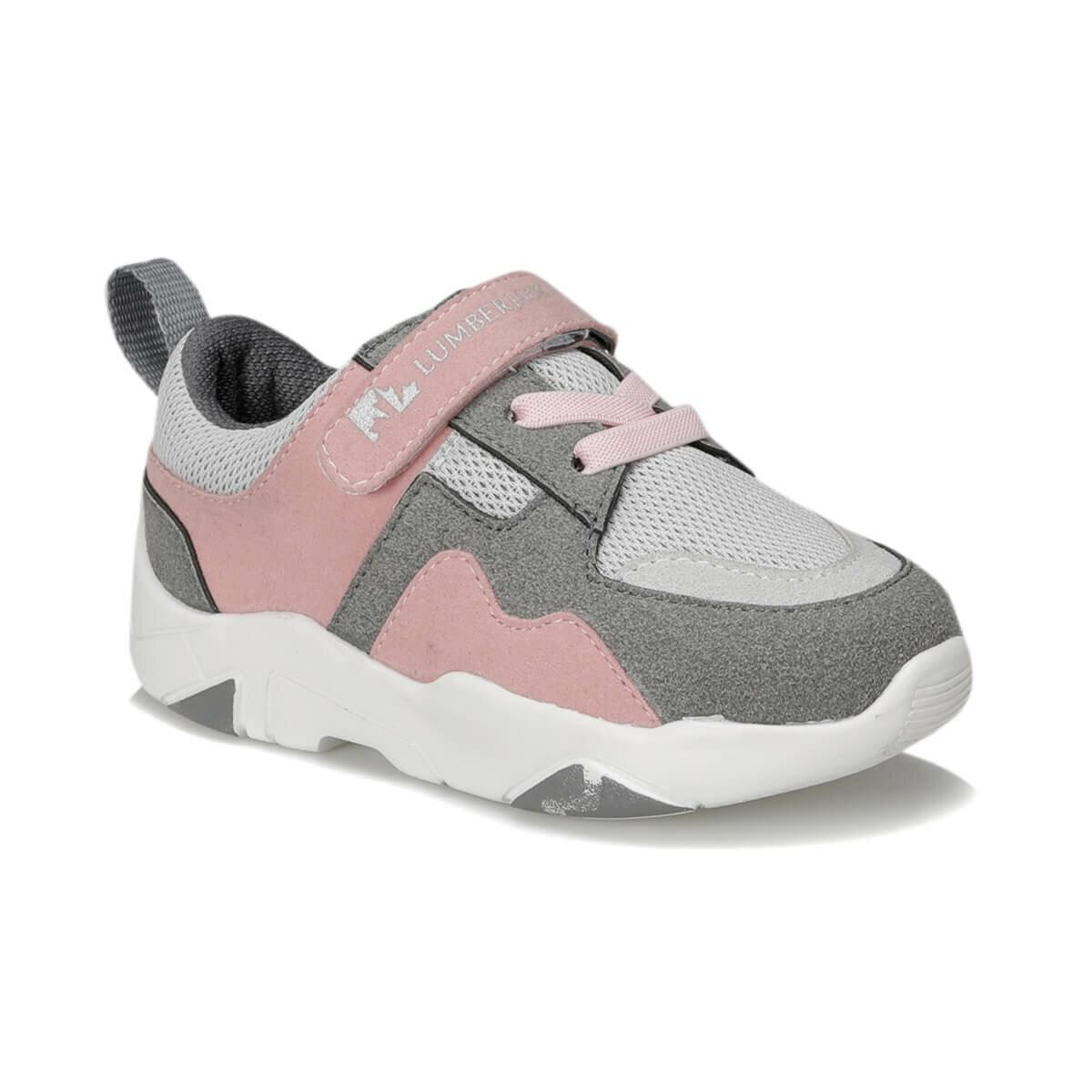 FLO SENSE 9PR Dark Gray Female Child Walking Shoes LUMBERJACK