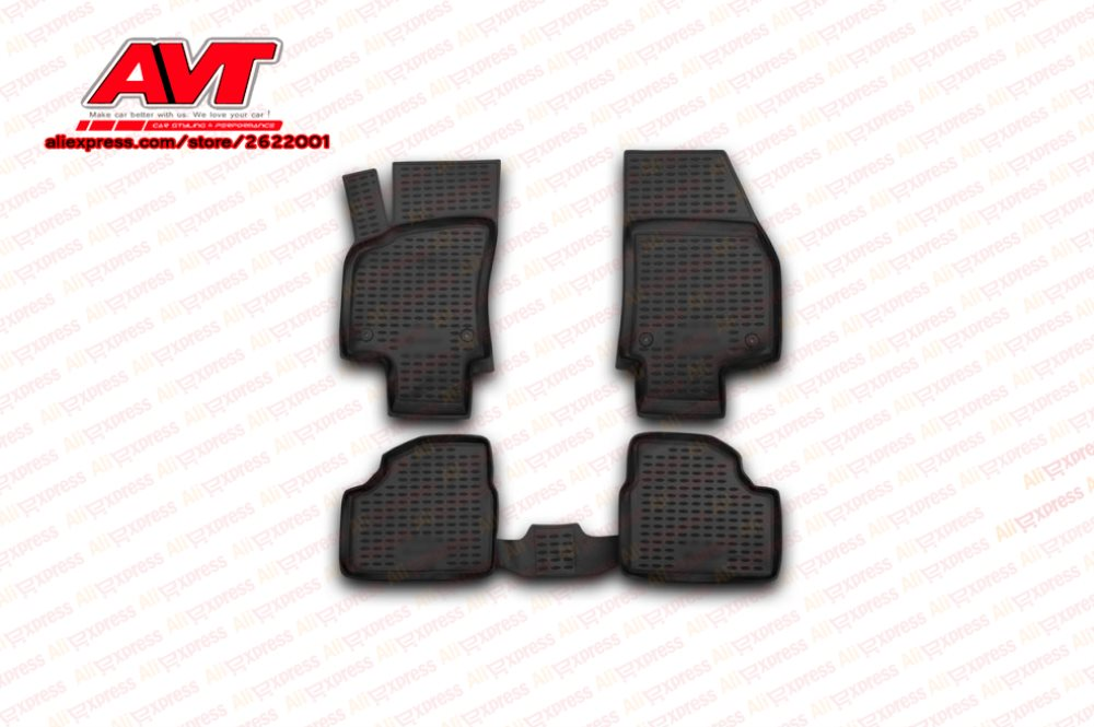 TAILORED CAR FLOOR MATS BLACK CARPET WITH GREEN TRIM VAUXHALL AGILA 2011