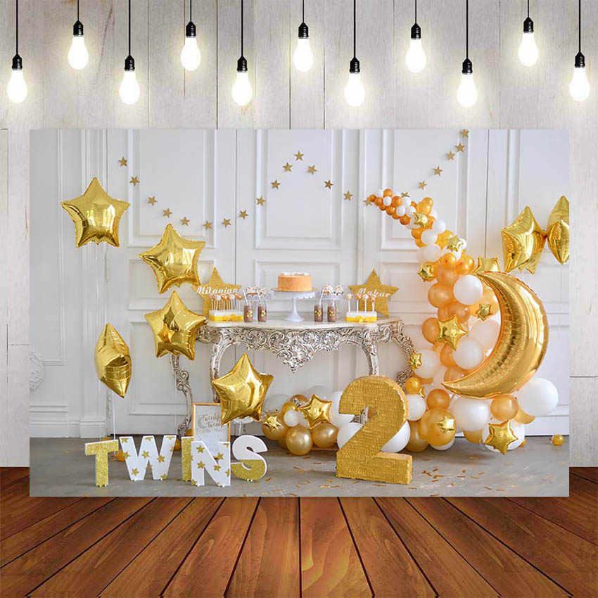 1st Verjaardag Fotografie Achtergrond Verjaardag Ballon Bloemen Wit Speelgoed Beer Achtergrond Decor Photocall Achtergrond Fotostudio