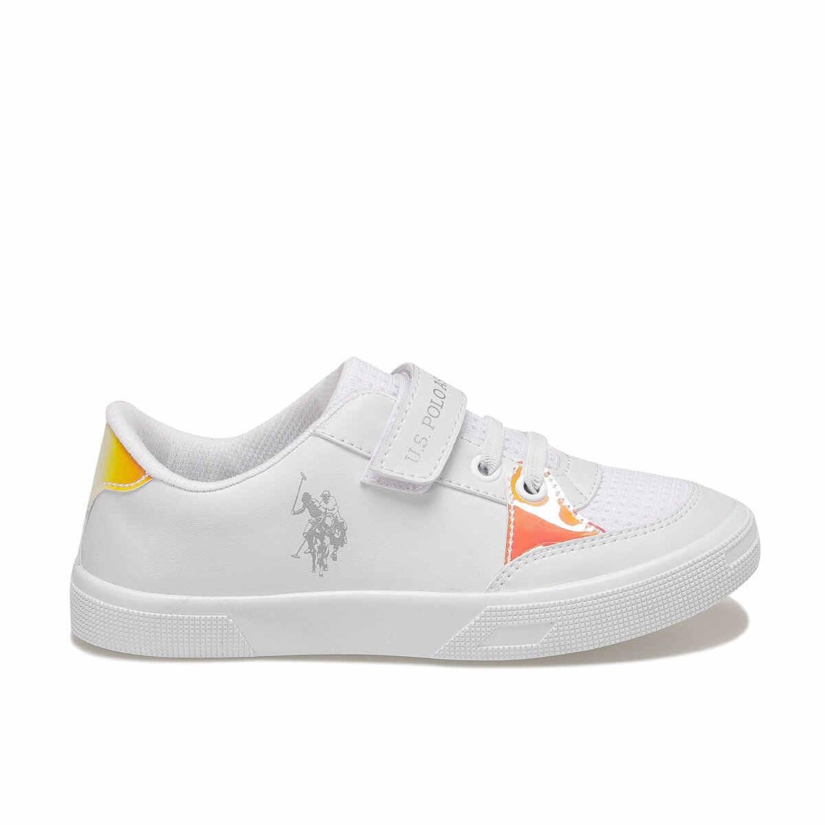 """פלו עושר לבן נקבה הילד Sneaker ארה""""ב פולו ASSN."""