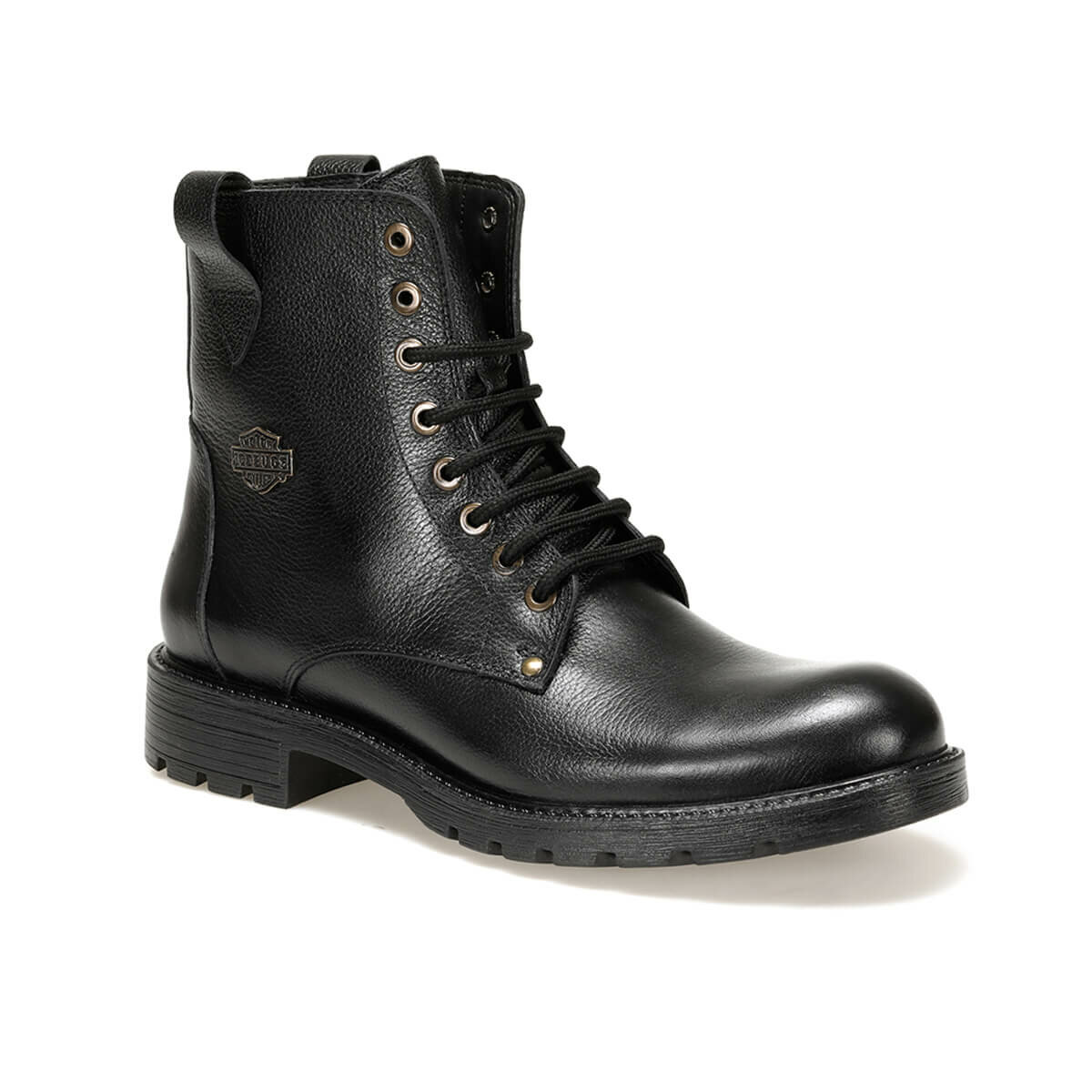 FLO 394 Black Men Boots Oxide