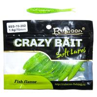 Edible silicone lure Rubicon crazy bait SS 1.6g, 70mm, color 202 art. 8ss 70 202 (12 PCs)
