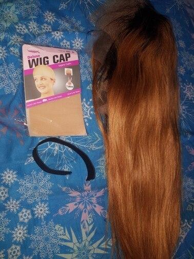 Apliques com cabelo humano Cheias Arrancado Rendas