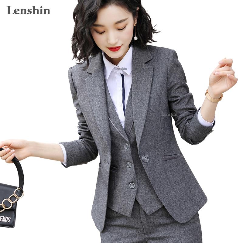 Lenshin One Piece Blazer For Women Elegant Jacket Fashion Work Wear Keep Slim Office Lady Outwear Single Button