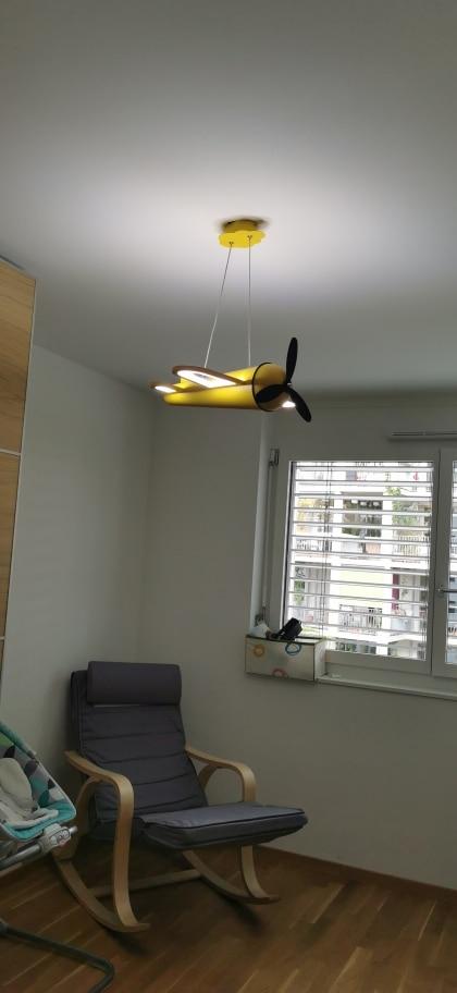 Kids Airplane LED Pendant Light photo review