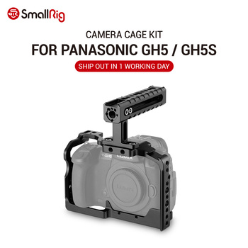 SmallRig GH5S Camera GH5 Dual Aluminum Cage kit For Panasonic Lumix GH5 / GH5S Form Fitting Cage with Top Handle Grip  2050 camera cage protecting case mount with top handle grip for panasonic lumix gh5 camera photo studio kit
