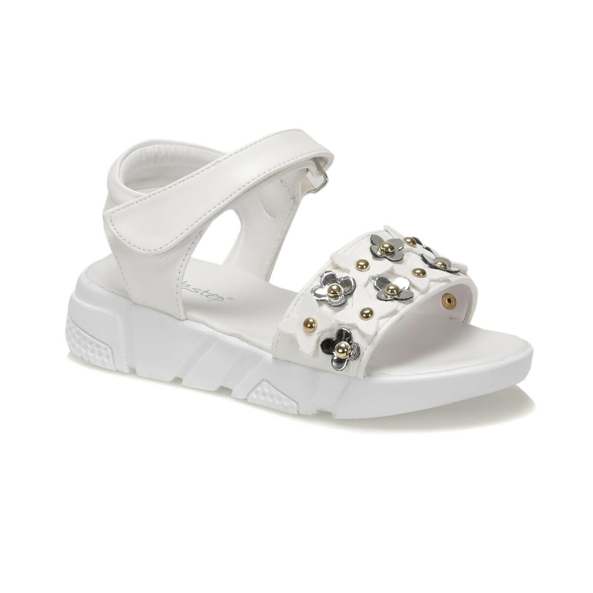 FLO 91. NESIS. F White Female Child Sandals PINKSTEP