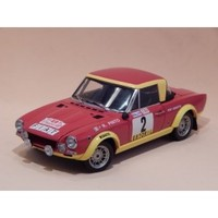 Car model FIAT 124 ABARTH miniature vehicle of Vintage automobile collection scale