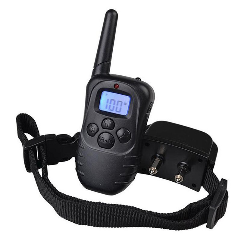 Electric Dog Training Collar Pet Remote Control with LCD Display Shock Vibration Sound Pet Puppy Anti barking Stop Bark Training Collars    - AliExpress