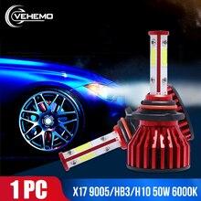 цена на DOB Auto Lamp Headlight Mile Car Light Wind 50W Turbo Super 6000K  Bright 9006/HB4 Fog Bulbs For 881 Led H7 H4 H9 H1 Automotivo