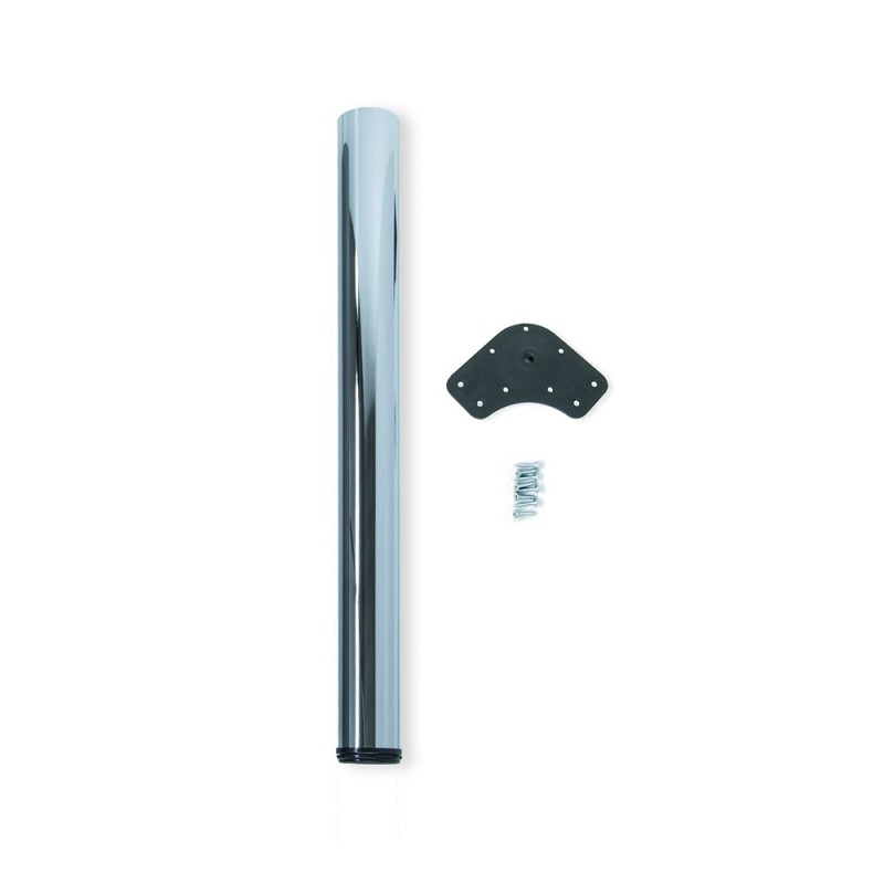 Table Leg Dimmable Emuca D. 60x870mm Chrome Steel