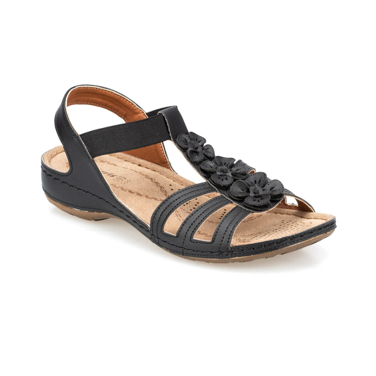 FLO 91.157362.Z Black Women Sandals Polaris