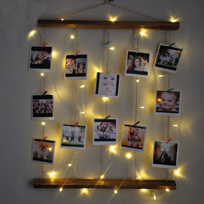 Illuminated Photo Hanger Clips String