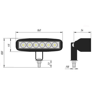 Image 4 - 2pcs 18W 12 24V 16 cm LED 헤드 라이트 오토바이 쿼드 자전거 트럭 보트 특별 트랙터 트레일러 NIVA UAZ 4x4 offroad