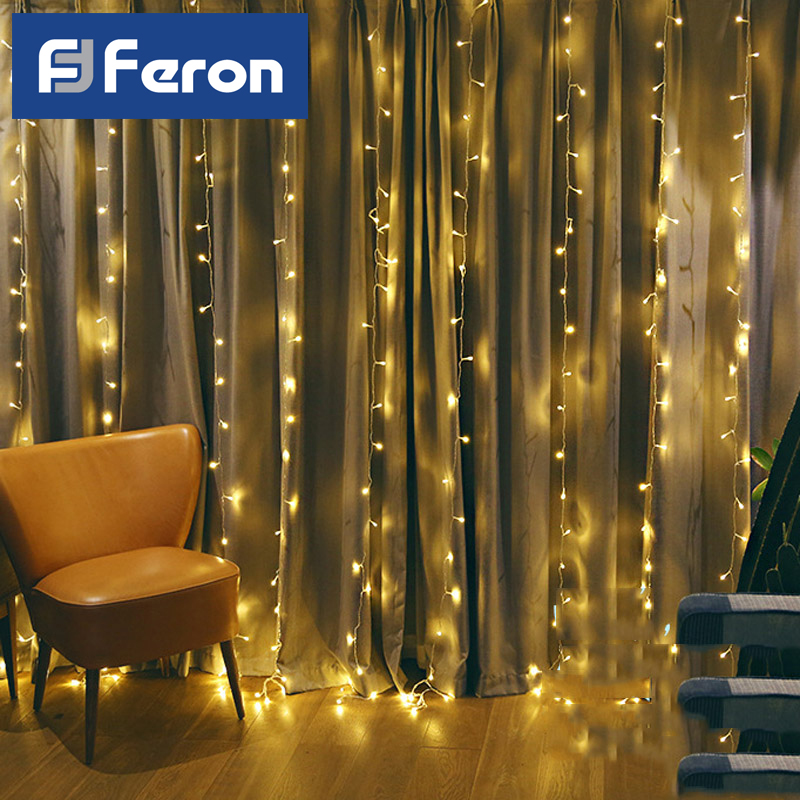 Led Festoon Feron Curtain Cord 3 M 230 V, Effect стробов, C Mains Power Supply