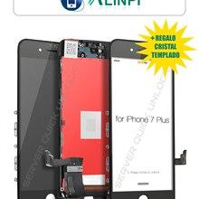 Pantalla Completa para iPhone 7 Plus Negra Tactil Digitalizador + LCD + Marco Negro + Cristal Templado Calidad AAA+ Envio 24h