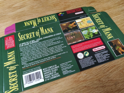 Secret of Mana with box 16bit game cartridge for pal console photo review
