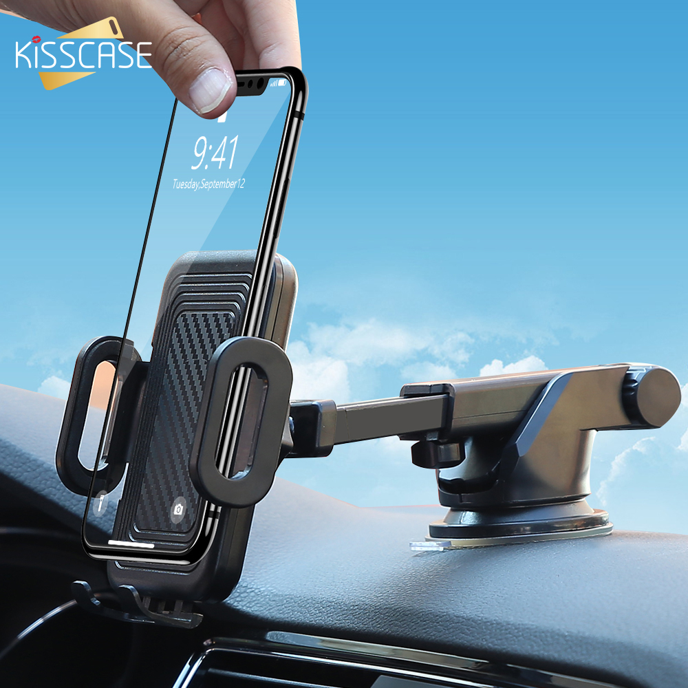 KISSCASE Car Phone Holder Air Outlet Mount Suction Cup Holder For Phone For Xiaomi Car Holders Cars Mobile Support Mobile Stand