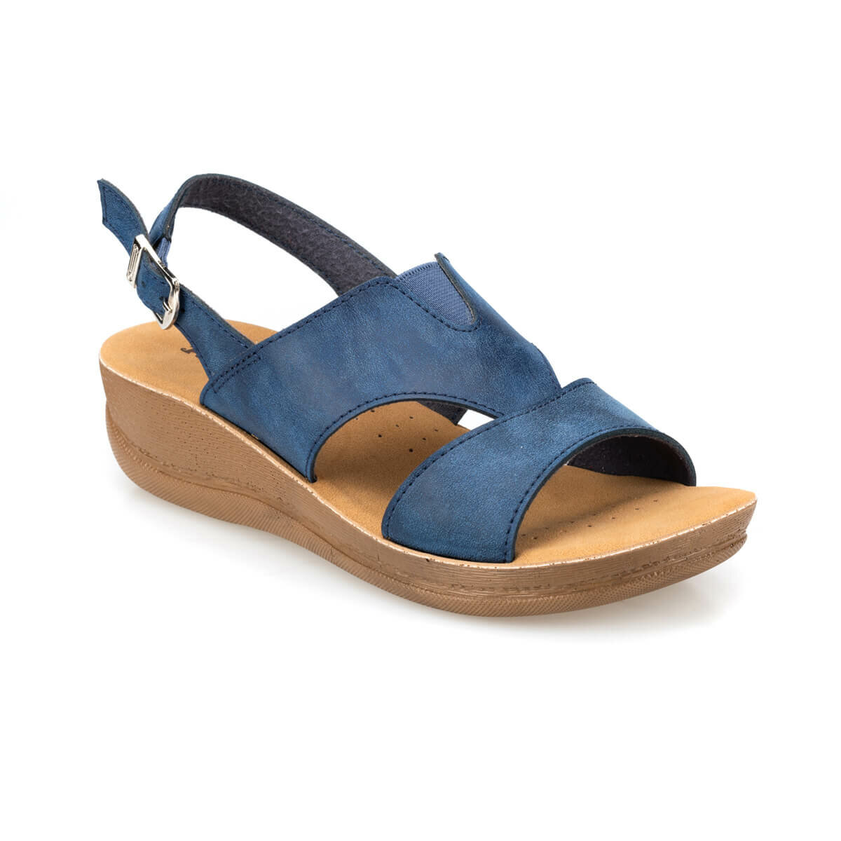 FLO 91.150764.Z Navy Blue Women Sandals Polaris