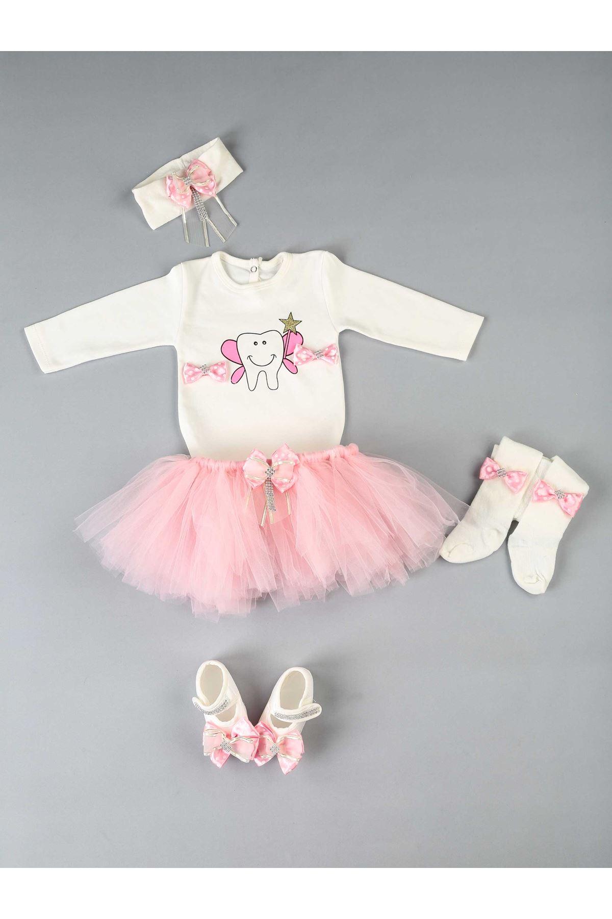 Pink Dİşim Output 5 Li Girl Baby Tütü Suit