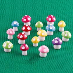 20 sztuk grzyby bajki miniatury ogrodowe akcesoria rzemiosło żywiczne mikro element dekoracji krajobrazu