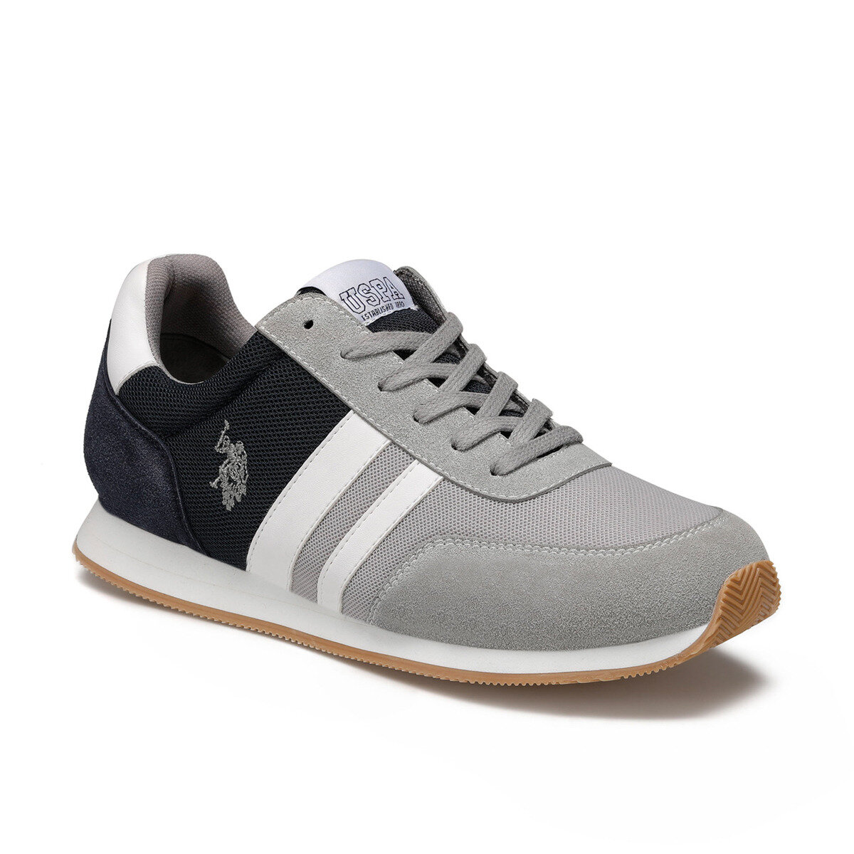 FLO Gray Men Sneakers Sports Shoes Summer Sneakers Casual Shoes Men Comfortable Zapatillas Hombre Running Hombre U.S. POLO ASSN.