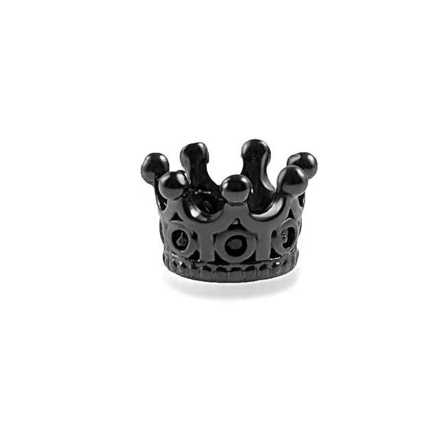 Charm Black Crown fashion beads big hole DIY bracelet ACCESORIES jewerly