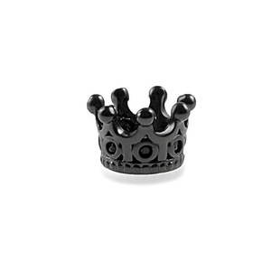 Charm Black Crown fashion beads big hole DIY bracelet ACCESORIES jewerly(China)