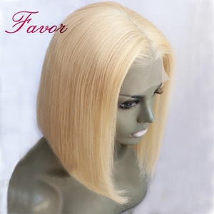 Image 3 - 150% Density Lace Front Human Hair Wigs 613 Blonde 13*4 Straight Short Bob Lace Wigs Brazilian Remy Human Hair Wigs For Womens