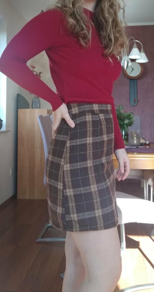 Women'S Casual Skirts Japanese Kawaii Ulzzang Vintage Plaid High Waist A Line Skirt Female Korean Harajuku Clothing For Women photo review
