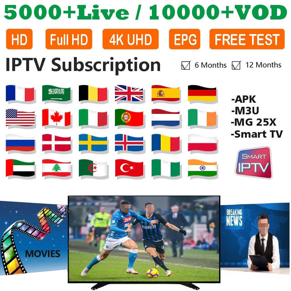 TV BOX Android NEOTV Iptv Subscription Europe France Arabic Italian Belgium Spanish IPTV Code 1800 Channel 2000 Films VOD