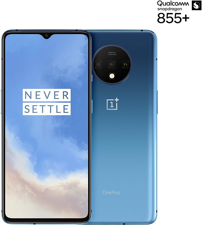 Phone OnePlus 7T, Blue Color Glacier (Glacier Blue), 128 GB Of Internal Memory 8 GB RAM, Dual SIM, Screen AMOL