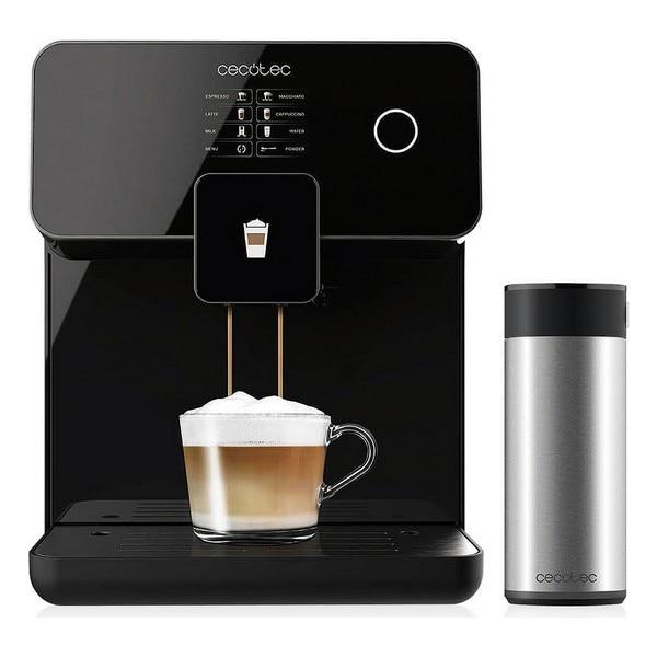 Ev Aletleri'ten Kahve Makineleri'de Elektrikli kahve yapımcısı Cecotec güç Matic ccino 8000 dokunmatik 1 7 L 1500W siyah title=