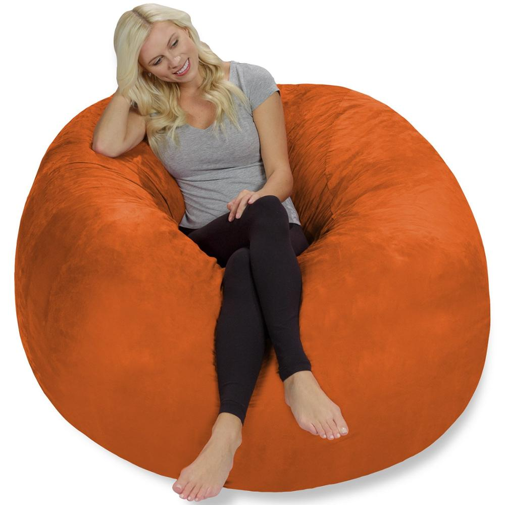 Top Selling Extra Large 4' Bean Bag Chair Covers Replacement Comfy Beanbag Without Filling