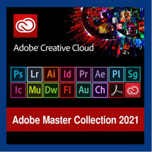 Adobe Creative Cloud 2021 | Collection d'adobe Master CC 2021 | Version complète | Activation à vie