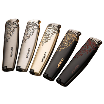 цена на Cigarette lighter Fluid Singel Jet Flame Windproof Lighter Refillable Butane Personality Metal Gift No Gas