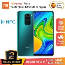 Xiaomi – smartphone, Redmi Note 9, RAM 3 go, ROM 64 go, ROM 128 go, 4 caméras, Android, version internationale
