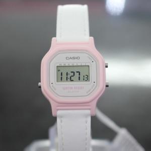 Casio женские оригинальные часы Ретро водонепроницаемые цифровые антикварные часы женские часы кожаный ремешок винтажные часы LA-11WL