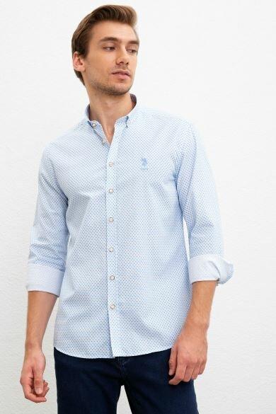 U.S. POLO ASSN. Printed Slim Shirt