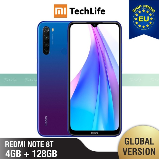 $  Global Version Xiaomi Redmi Note 8T 128GB ROM 4GB RAM (Brand New / Sealed) note 8 t, note8t, note 8 Smartphone Mobile