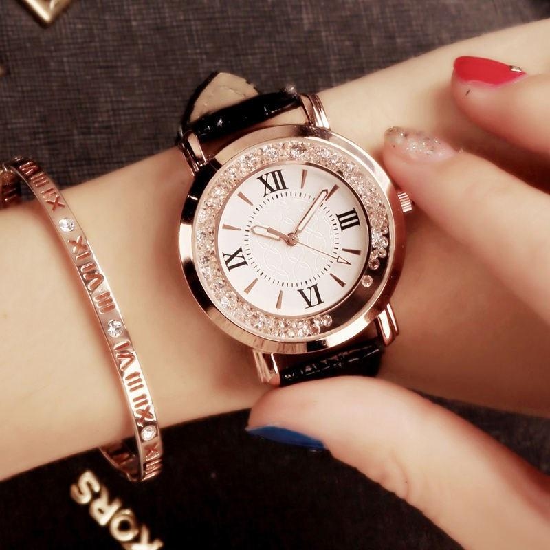 New Leather Fashion Brand Bracelet Watches Chilren Boy Girl Casual Quartz Watch Crystal Wrist Watch Wristwatch Clock Hour 8O78