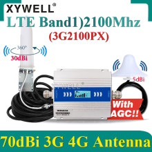 2021New!! 3G 2100Mhz Cellphone Cellullar Booster LTE(Band1)2100MHz 4G Cellular Amplifier GSM Repeater 3g4g Mobile Signal Booster