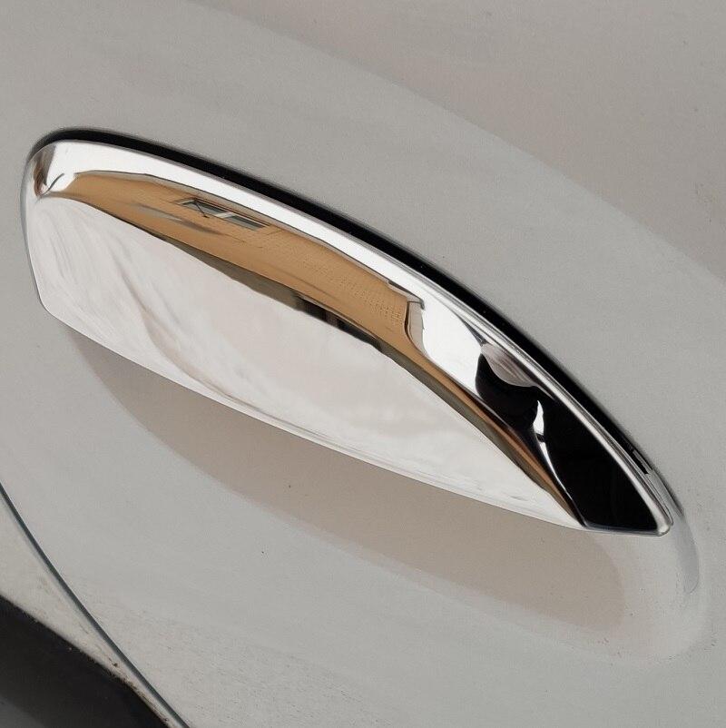 4 puertas acero inoxidable Se adapta a Dacia Duster 2018 en cromo para manija de puerta